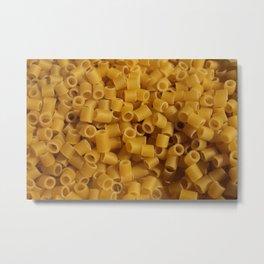 Tiny pasta pattern background texture Metal Print