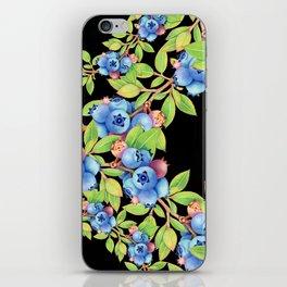 Wild Blueberries Lattice Design iPhone Skin