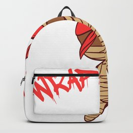 """""""Wrap Artist"""" T-shirt Design Spooky Creepy Happy Halloween Scary Ghost October November Backpack"""