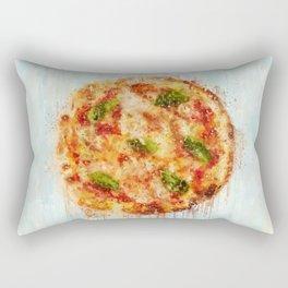 Painted Pizza Rectangular Pillow