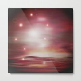 Rose Sky Lights Metal Print