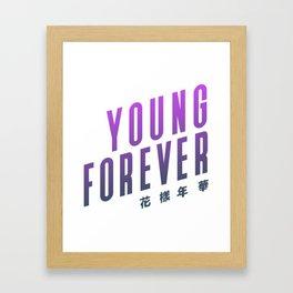 BTS ! Young Forever Framed Art Print