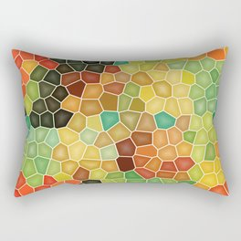 Colorful stained glass Rectangular Pillow