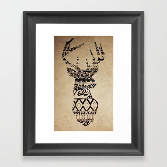 oh deer oh my framed art print by madelyne joan templeton. Black Bedroom Furniture Sets. Home Design Ideas