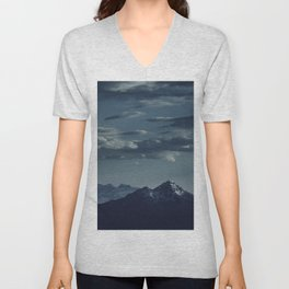 Lonely peak of the mountains Unisex V-Neck