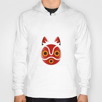 princess mononoke Hoodies featuring Mononoke by Miss Phi