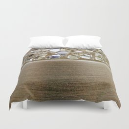 Gold Iridescence and Mirrors Duvet Cover