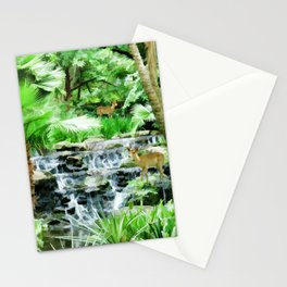 Peaceful forest life Stationery Cards