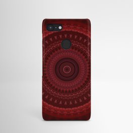 RED Mandala Design Android Case