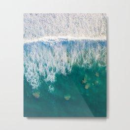 Ocean Fluid Dynamics Metal Print
