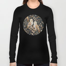 Wooden Wonderland Barn Owl Collage Long Sleeve T-shirt