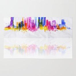 Color New York Skyline 05 Rug