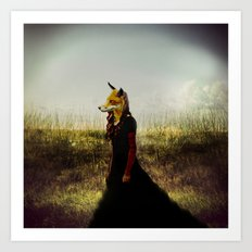 Eyes On The Prize | Fox Lady Art Print