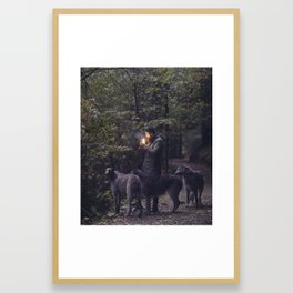 The Scottish Wolfhound Framed Art Print
