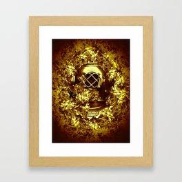gold diver Framed Art Print