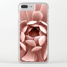 Pink Cactus Clear iPhone Case