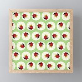 Ladybugs pattern Framed Mini Art Print