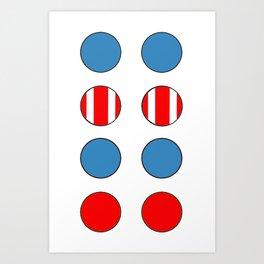 DCNSTRCTD CPTN (captain) Art Print