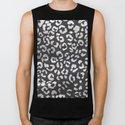 Black white hand paint leopard pattern chalkboard by girlytrend