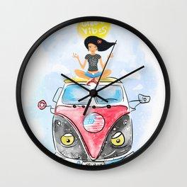 Jess Travel. Great vibes. Meditation. California. Adventure. Ocean. Wall Clock