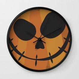 Abstract Jack-O-Lantern Wall Clock