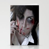 kuroshitsuji Stationery Cards featuring Claude Faustus by Lalasosu2