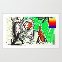 sketch Art Prints featuring Sketch by Alec Goss
