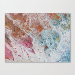 WHITE WASH | Fluid abstract art by Natalie Burnett Art Canvas Print
