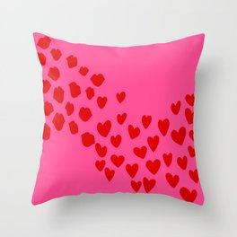 KisseS and HeartS Throw Pillow