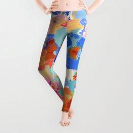 Painted Pansies Leggings