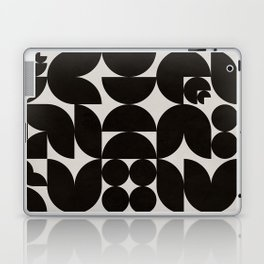 Black & White Mid Century Modern Pattern Laptop & iPad Skin
