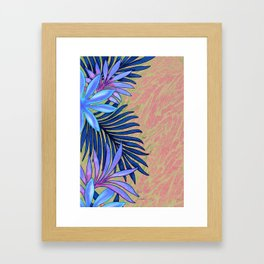 A Run Through the Jungle Blues Framed Art Print