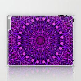 Purple Leaves Kaleidoscope Mandala Laptop & iPad Skin