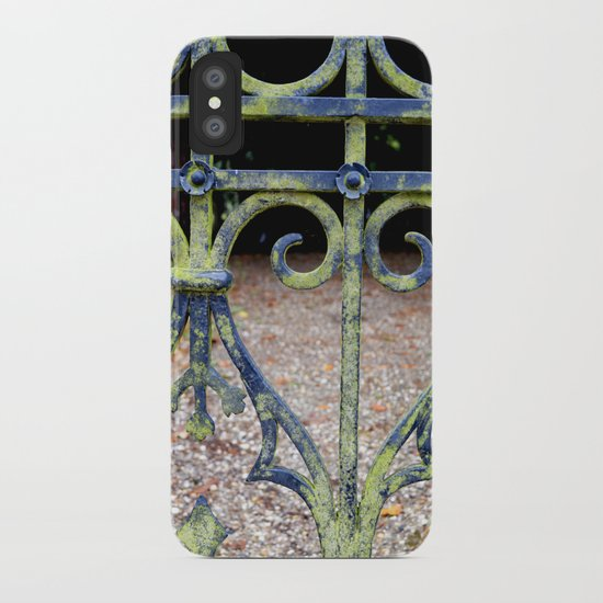 Heart and swirls iPhone Case