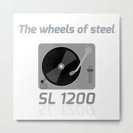 The wheels of steel Metal Print