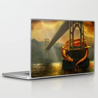 marc johns Laptop & iPad Skins featuring The Dragon of the St Johns Bridge by Studio Catawampus