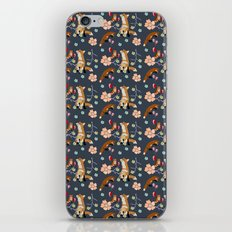 Fox and flowers iPhone & iPod Skin