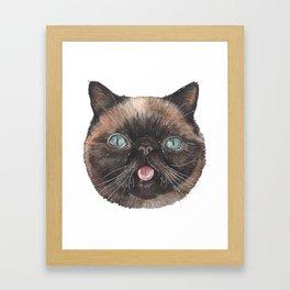 Der the Cat - artist Ellie Hoult Framed Art Print