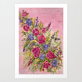 Blush Bushel  Art Print