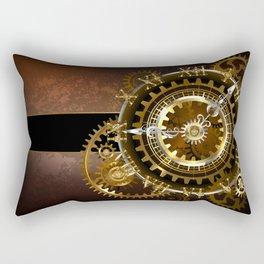 Steampunk Clock with Gears Rectangular Pillow