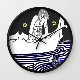 Warrior of the north Wall Clock
