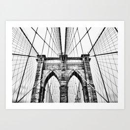 Brooklyn Bridge x Art Print