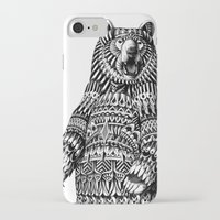 ornate iPhone & iPod Cases featuring Ornate Grizzly Bear by BIOWORKZ