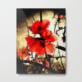 Spring Red 3, Royal Botanical Gardens - Melbourne Metal Print