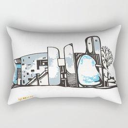 Notre Dame du Haut Rectangular Pillow