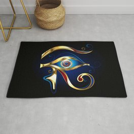 Gold Eye of Horus Rug