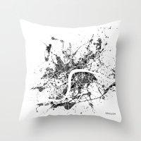 london map Throw Pillows featuring London map by Nicksman