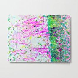 Brain Cells Low Poly Geometric Triangle Art Metal Print