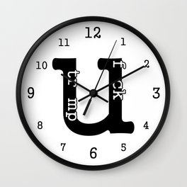 Fuck Trump Wall Clock