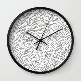 IN THE COLORING BOOK OF THE FRACTAL UNIVERSE PAGE 3! Wall Clock
